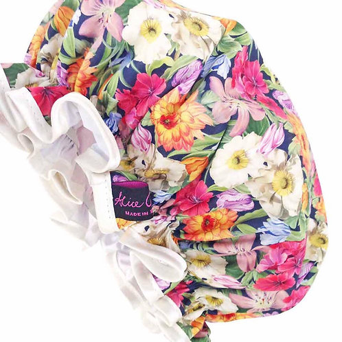 SHOWER CAP MELODY BLOOMS LIBERTY PRINT
