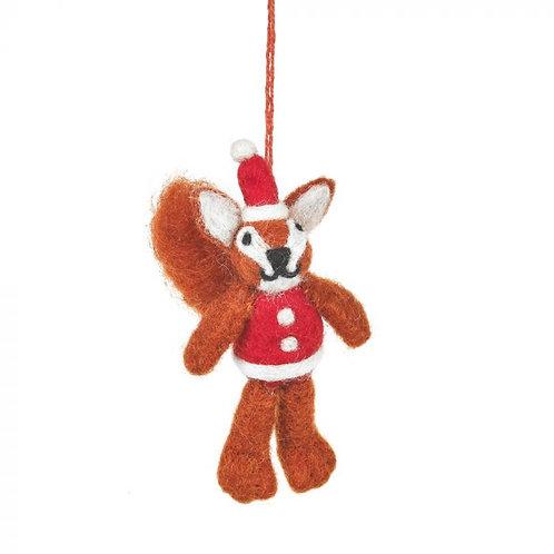 Handmade Felt Biodegradable Christmas Rudolph in his Christmas Jumper Hanging De