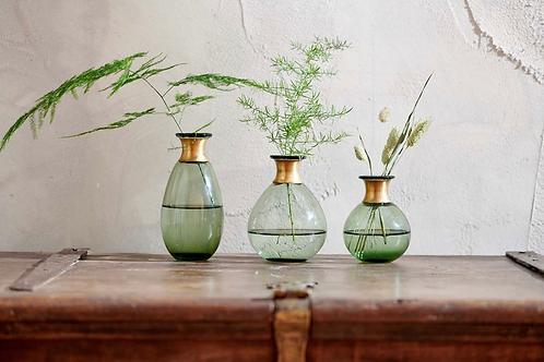 Miza Mini Glass Vase - Green