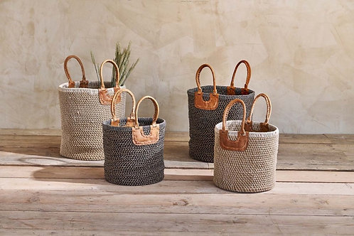 Indra Coil Basket - Natural and black