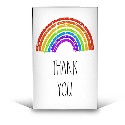 GREETING CARDS, RAINBOW THANK YOU GREETING