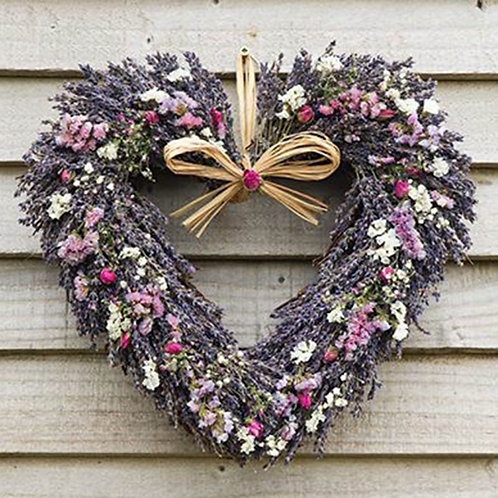 Wildflower & Lavender Heart