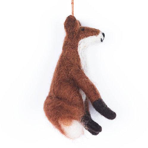 SITTING FOX FELT DECORATION