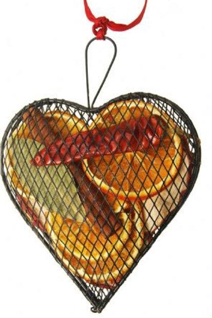 METAL MESH HEART 3 COLOURS 12CM