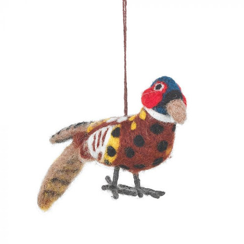 Handmade Pheasant Hanging Fair trade Countryside Decoration