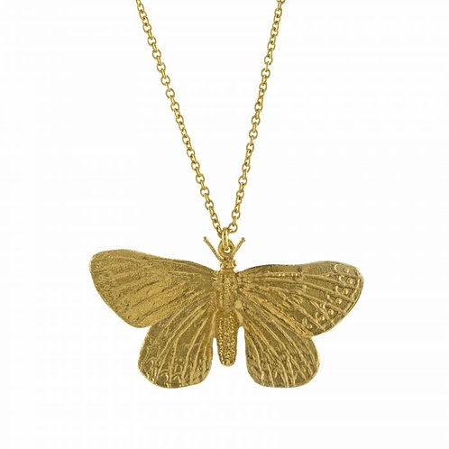 Duke of Burgundy Butterfly Necklace