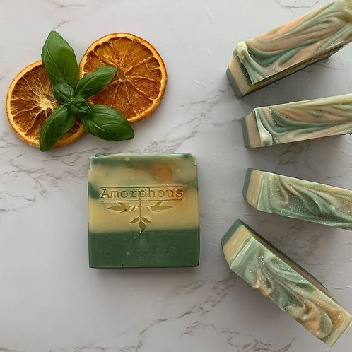MEDITERRANEAN DREAM VEGAN SOAP WITH ORANGE, BASIL AND PALMA ROSA