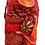 Thumbnail: Large cone, orange and cinnamon organza bag