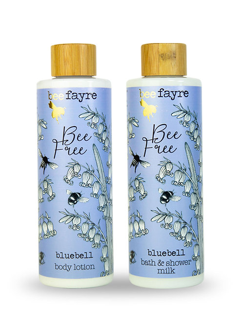 Bluebell Bee Free Body & Bath Gift set with free rose soap