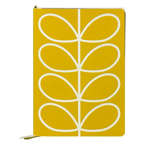 A5 CLASSIC NOTEBOOK - LINEAR STEM YELLOW  A5 CLASSIC NOTEBOOK ORLA KIELY