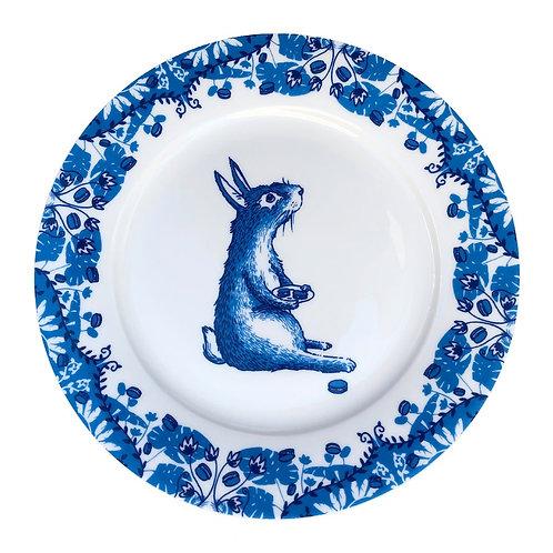 Rabbit Willow pattern side plate
