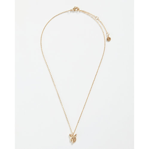 Gold Fox Short Necklace - Green Box