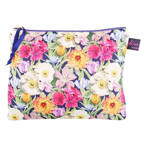 TRAVEL POUCH MELODY BLOOMS LIBERTY PRINT