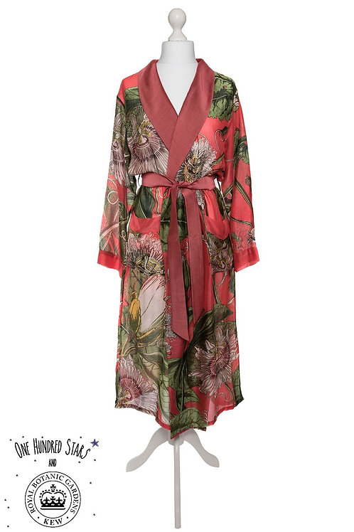 ONE HUNDRED STARS & KEW RBG PASSION FLOWER CORAL GOWN