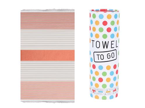 TOWEL TO GO ORANGE/BIEGE