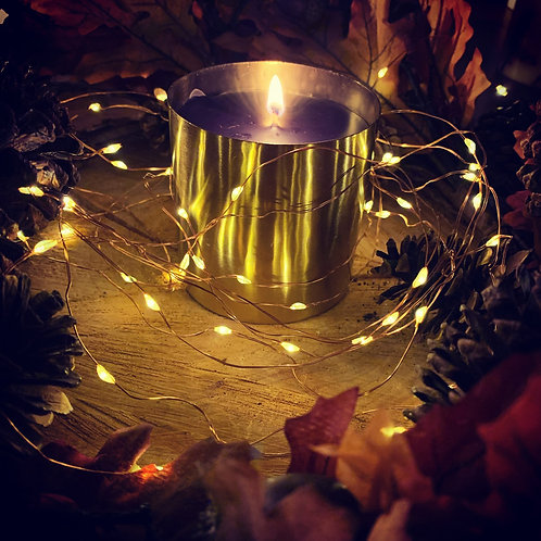 LARGE GINGKO, BIRCH & PATCHOULI LUXURY CANDLE BRASS