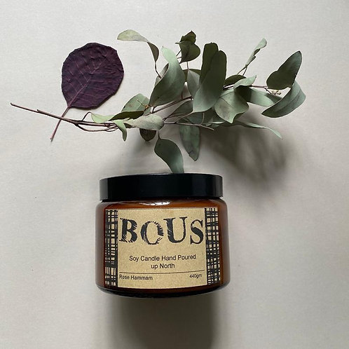 Rose Hammam - Hand Poured Soy Aromatherapy Candle - Wooden Wick - Small Batch Na