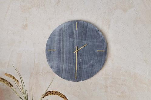 Besa Marble Clock - Grey