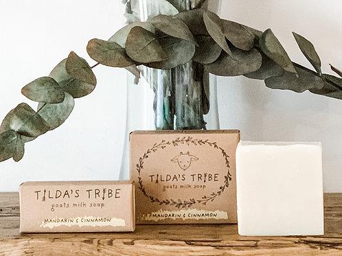 Mandarin & Cinnamon Handmade Natural Goats Milk Soap