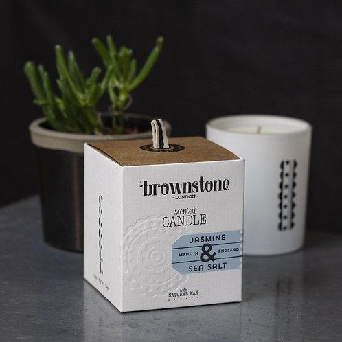jasmine & sea salt candle
