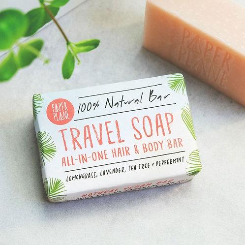 TRAVEL SOAP 100% NATURAL VEGAN PLASTIC-FREE