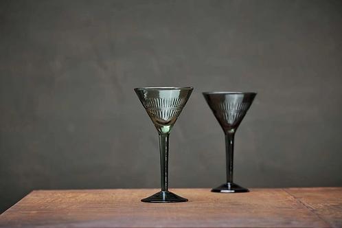 Mila Cocktail Glass - Dark Emerald set of 4