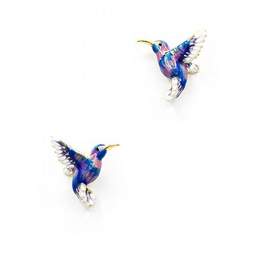 HUMMINGBIRD STUD BLUE