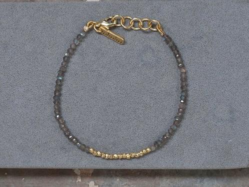 Kitara Bead Bracelet - Grey & Gold