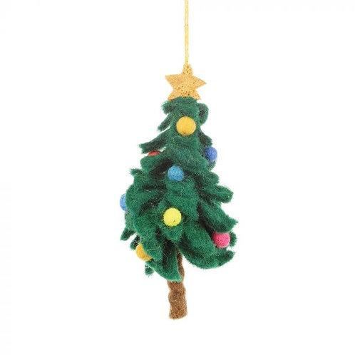 Handmade Felt Colourful Christmas Tree Hanging Decoration