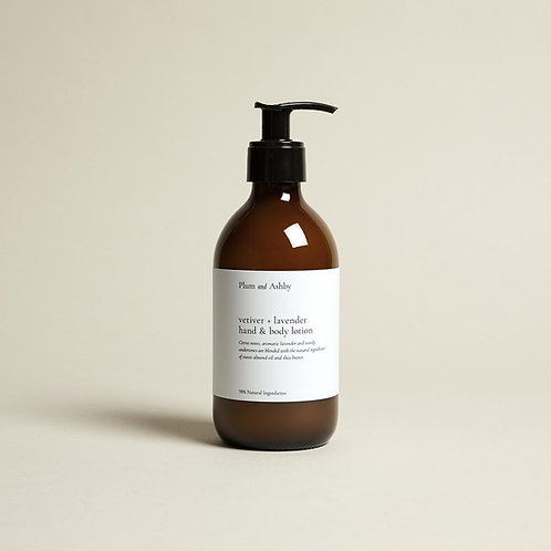 VETIVER & LAVENDER HAND & BODY LOTION