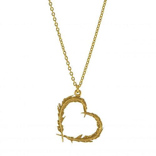 Delicate Feather Heart Necklace