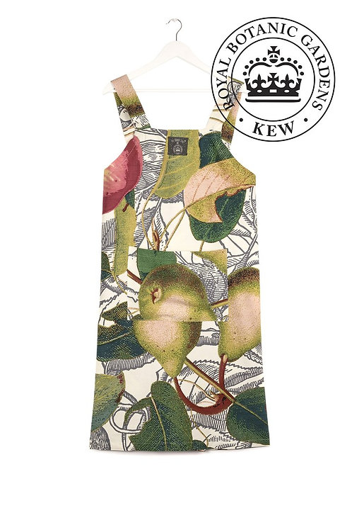 Apples and Pears White Pinafore