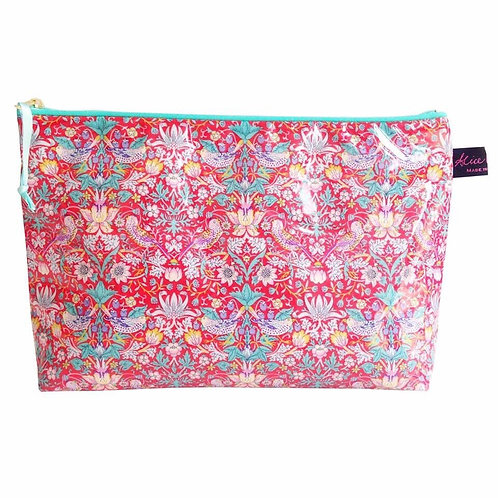 Wash Bag Strawberry Thief Red Liberty