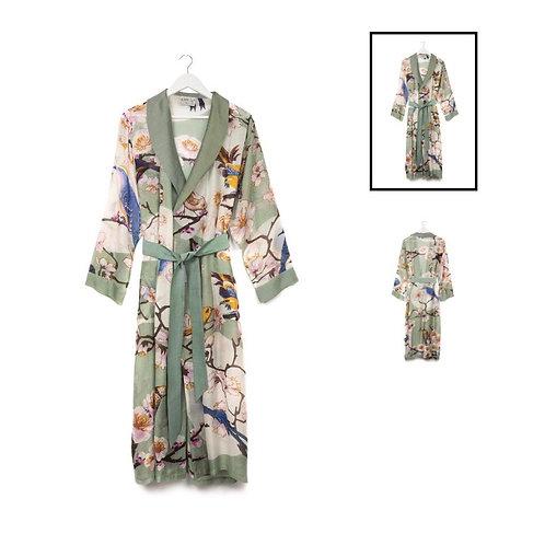 Blossom and Birds Aqua Gown