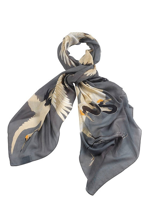 ONE HUNDRED STARS STORK SLATE GREY SCARF