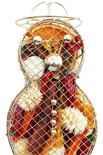 Snowman Metal Cage