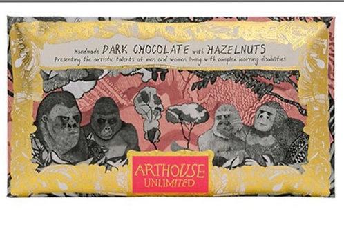 Gorillas Handmade Dark Chocolate with Hazelnuts