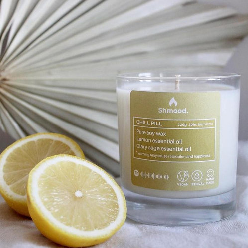 Chill Pill   Lemon & Clary Sage (220g) CANDLE