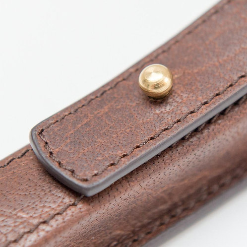 HANDCRAFTED LEATHER RAZOR CASE