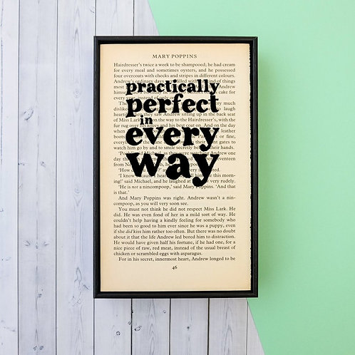 MARRY POPPINS BOOK PRINT