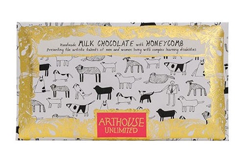 Dogs Handmade Milk Chocolate with Honeycomb Pieces