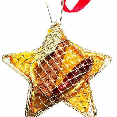 HANGING METAL MESH STAR GOLD