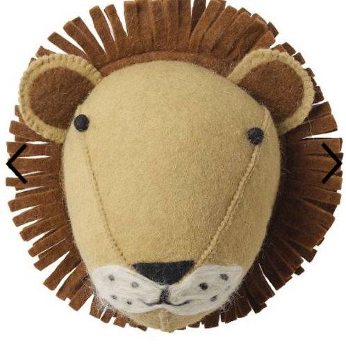 Lion felt wool head