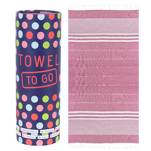 TOWEL TO GO FUSHIA