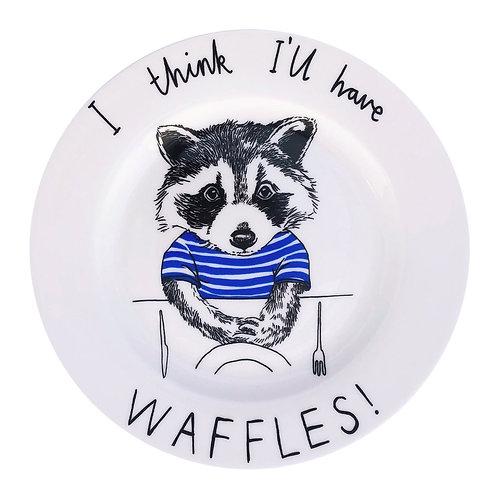 Raccoon Waffles Side Plate