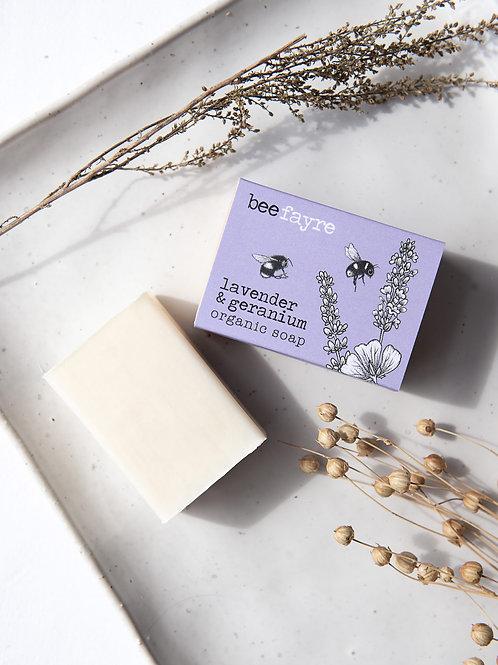 Bee Calm Lavender & Geranium Organic Soap