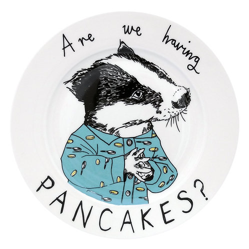 Badger pancake side plate 'Are we having Pancakes?'
