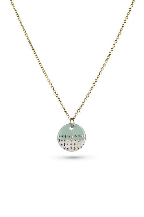 Porcelain Mint Paloma Gold Necklace