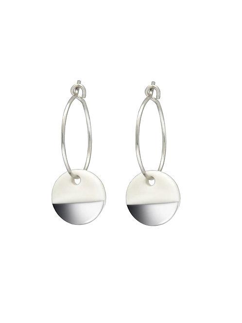 Porcelain Silver Dipped Earrings