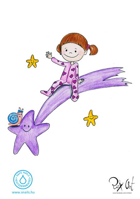 lila üstökös gyerek körömlakk
